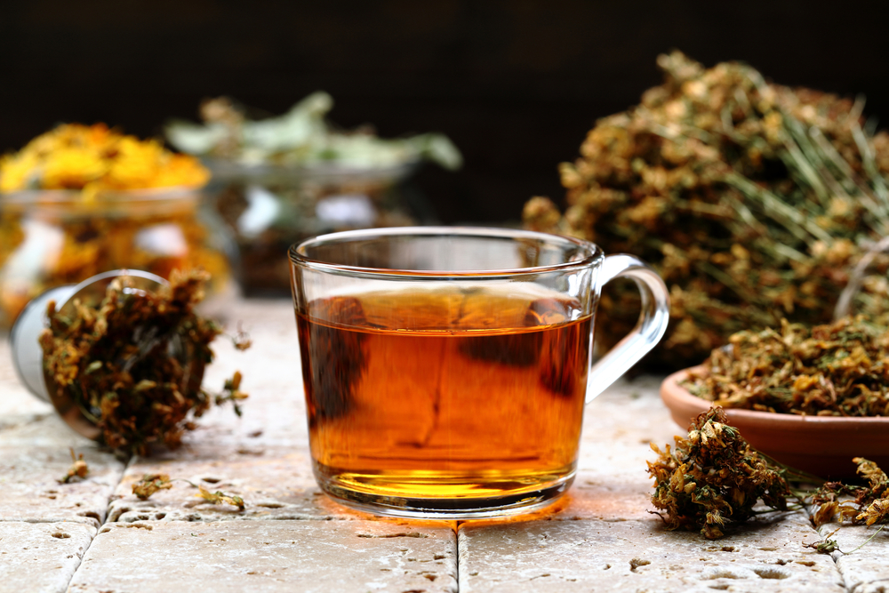 Herbal tea helps with cottonmouth